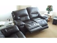2 seater leather recliner sofas