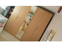***** FREE FREE *5 door beach wardrobe with single mirror mixture of shelves and rails in every unit