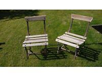 pair of Victorian garden chairs