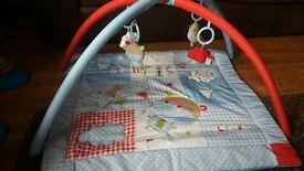 baby boy play mat and baby bouncer