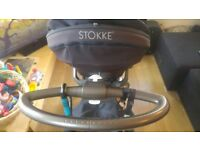 Stokke Xplory V3 pram + carrycot + 10 original accessories