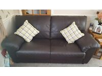2 & 3 seater leather sofas