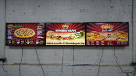 46 INCH NEC DIGITAL SIGNAGE BASED ON ANDROID DIGITAL TAKEAWAY AND RESTAURANT MENU DESIGN