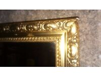 Gold painted mirror