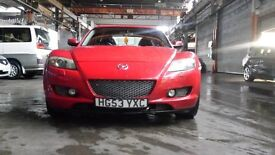 MAZDA RX8 CHERRY RED TOP SPEC FULL LEATHER HEATED SEAT BOSE SOUND SYSTEM.