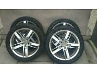 Volkswagen/Seat Alloys 2 Tyres As New 2 Tyres 30% (225/45/17)