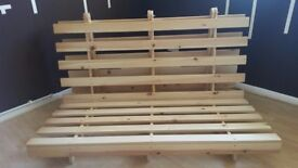 FUTON WOODEN DOUBLE FRAME (+delivery)