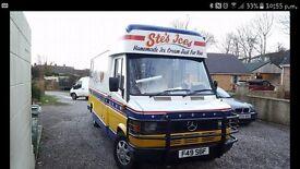 Mercedes 308d whippy ice cream van