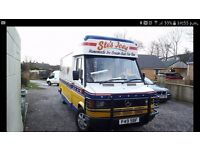 Mercedes 308d whippy ice cream van
