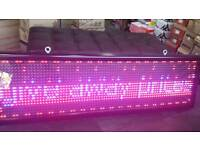 LED SHOP SIGN NEW WITH FLASHING LIGHT'S AND WORD PHRASE INPUT