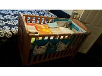 Baby Cot with mattress and accessories