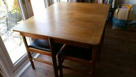McIntosh Vintage extendable dining table & 4 chairs