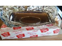 Vintage Silver Plated tableware – Quen Anne rectangle tray.