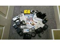 Various cameras and accessories