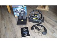 Boxed Mad Catz Dual Force Racing PS1 or PS2 steering Wheel with Peddles