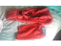 Baba sling baby infant carrier in red - used