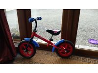 Kids spiderman balance bike