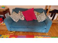 Two sofas with cushions