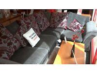 Fabric Corner Sofa. BRITISH HEART FOUNDATION