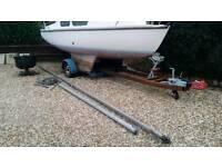 Sailing boat and trailer