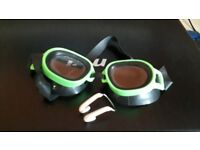 Swimming Goggles and Nose Clip