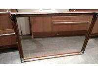 Dark brown mirror for sale, still in great condition