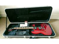 Epiphone SG Cherry Red Guitar with Gator Flight Case