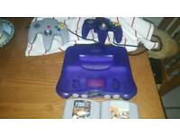 Rare Nintendo 64 purple grape with expansion pak and games