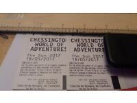 2x adult chessington tickets