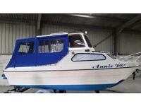 River Cruiser, Fishing boat,overnighter, Pilot 490, 15Hp 4stroke, Trailer, Bsc cert.