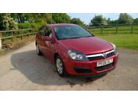 Vauxhall Astra Club, 1.6 petrol Twinport, 87500 miles, 2006 (06), Red
