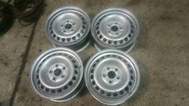 "Vw transporter t5 16"" steel rims 5x120"