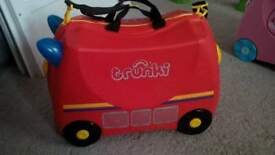Trunki, fire engine, like new condition
