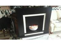 Beautiful hand painted fire place