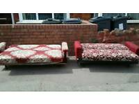 Pair of sofas beds free delivery