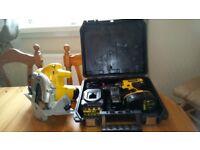 Used Dewalt 18v cordless tools set, Drill/Circular saw, etc. GWO, see photos & details