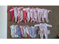 baby girl clothes 0-3 months over 40 items vests dresses tops ...
