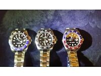 rolex gmt ii. ceramic bezal . waterproof . sapphire glass.2.5 date. glide lock.150g weight. flawless