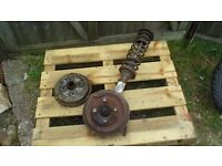 Ford Anglia 105e Super parts - drums, strut and wheel
