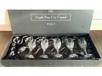 Argyle fine cut crystal wine glasses- set of 5