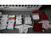 Large baby girls bundle 0-3 months