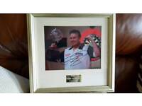 Phil Taylor Framed picture. Signed.