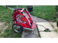 Single child bike trailer
