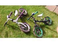 "2 x 12"" Avigo Easy Rider Balance Bikes - £20 each or £35 for 2"