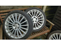 """vauxhall alloys 17"""" tsw with 1 month old tires"""