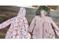 2 x girls coats age 7