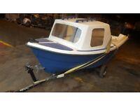 14ft fishing/pleasure boat & trailer
