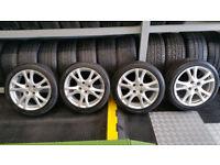 Mazda Genuine 16 alloy wheels + 4 x tyres 195 45 16