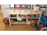 TV cabinet, kitchen table and three drawer long storage unit