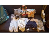 Huge bundle of baby boy clothes newborn to 6 months